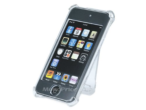 Crystal Case with Belt Clip/Back Stand for iPod Touch 2G & 3G - Clear