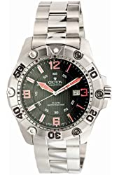 Croton Mens Aquamatic Extreme 30 ATM Steel Date Diver's Watch CA301190SSBK