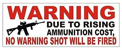 "1 Pc Stately Modern Gun Control Warning Car Sticker Windows Decor USA Bumper Bumper Label Size 3"" x 8"" Colors Black and Red"