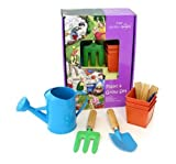Threesixty Innovation Little Garden Angels Children's 6-Piece Plant and Grow Gardening Tool Set PGS078