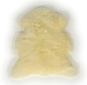 Natural Coloured Sheepskin Rug With Stitching from LAMBLAND