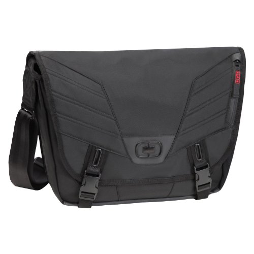 Ogio Pagoda S Laptop/Tablet Messenger Bag (Black, Small)