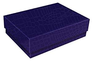"Aurora Products ""ProFormance"" Small Office Storage Box, 8 x 6 x 2.5 Inches, Purple Croc/Blackberry (09380-6)"
