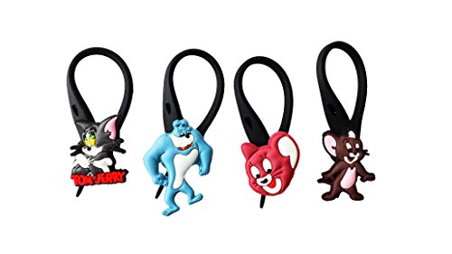 AVIRGO 4 pcs Soft Zipper Pull Charms for Backpack Bag Pendant Jacket Set # 106-3