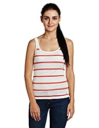 Nautica Women's Tank Top (NT519V2066AX_Watermelon Heather_L)