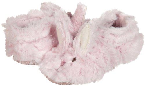 Robeez Fuzzy Bunny Slipper Crib Shoe (Infant), Pink, 6-12 Months M US Infant