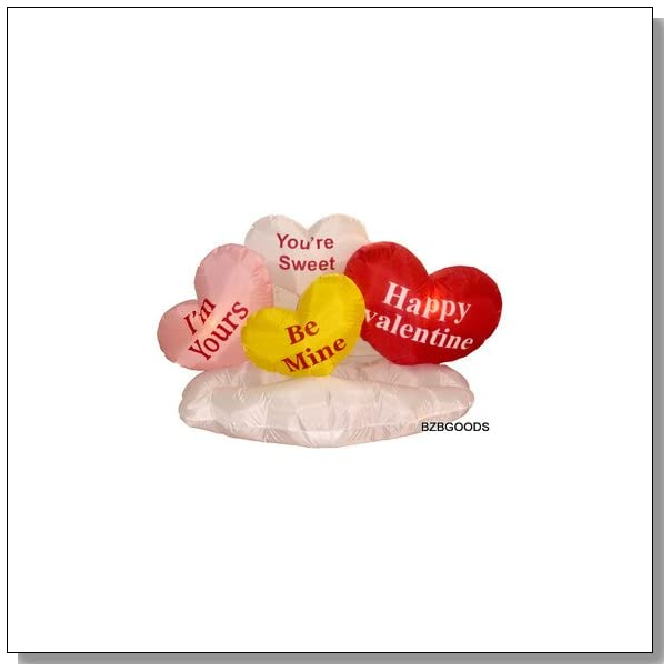 BZB Goods 5 Foot Long Inflatable Hearts on Cloud