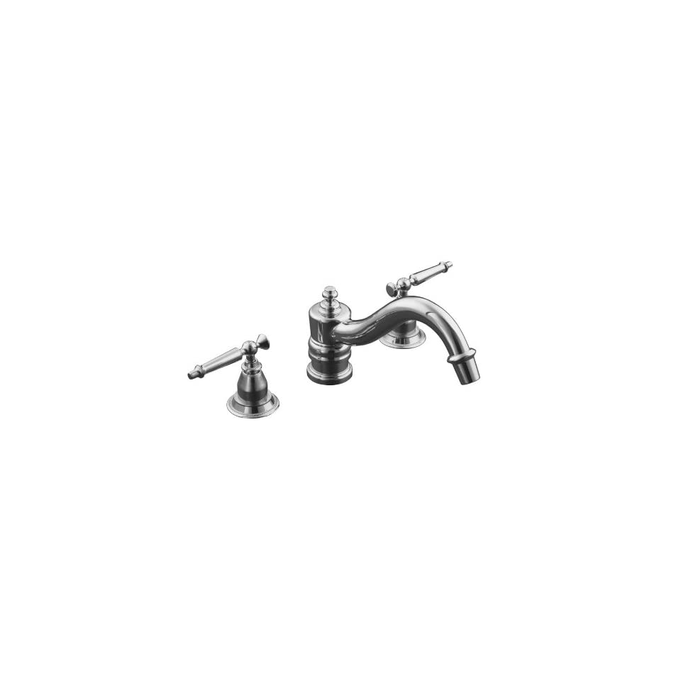 KOHLER Antique Polished Chrome 2 Handle Tub Faucet T125 4