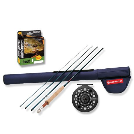 Redington Crosswater 2 & 4 peice Rod, Reel, Line & Case Fly Fishing Outfit