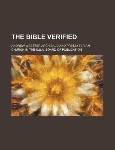The Bible verified