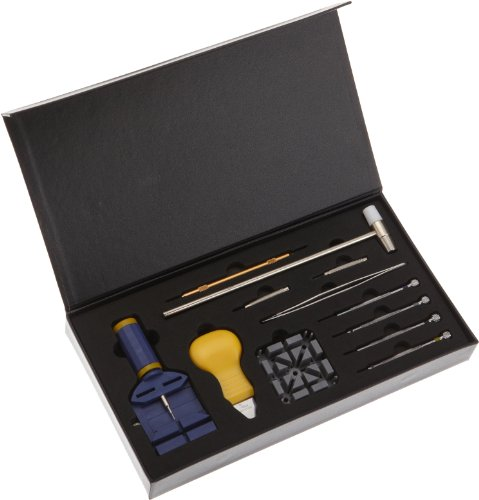 Paylak TSA9005 Watch Repair Tool Kit with Band Link Remover, Sizing Tool, and Storage Case
