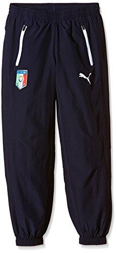 PUMA, Pantaloni Bambino Figc Italia, Blu (Peacoat), 164 cm