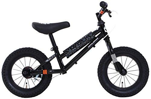 DOPPELGANGER(ドッペルギャンガー) DX12-BK DUB STACKシリーズ 12インチ キッズバイク ブラック [対象年齢:2歳以上 20kg以下] 適応身長目安:95~110cm ハンドル高調整可能なハンドル一体型ステム リアブレーキ標準装備・フレームパッド付属 選べる全5色