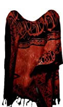Cool Kaftans New ROMAN Summer Top Tunic Poncho Celtic Shirt Beach - Brown - XXL Cool Kaftans