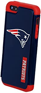 Forever Collectibles New England Patriots Rugged Dual Hybrid Apple iPhone 5 & 5S... by Forever Collectibles
