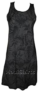 Paradise Found Womens Midnight Garden Sleeveless Short Tank Dress