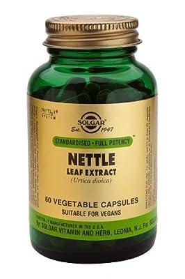 Solgar-Nettle Leaf Extract Vegetable Capsules 60 by Solgar Vitamins and Herbs