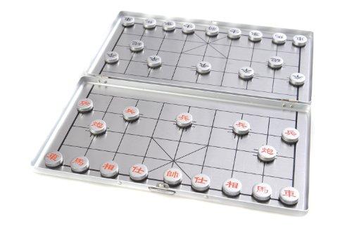 Azerus Alu Line: xiangqi - set de voyage en cas d'aluminium avec pièces magnétiques, planche 18cm x 16cm x 0,5 cm (XY024P DE)