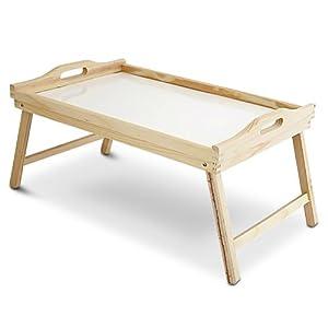 Vassoio letto 50 x 33 cm in legno naturale per ammalato o - Vassoio per colazione a letto ...