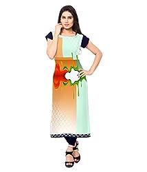 Shivam Women's Crepe Kurti (VT146_Multi-Coloured_38)