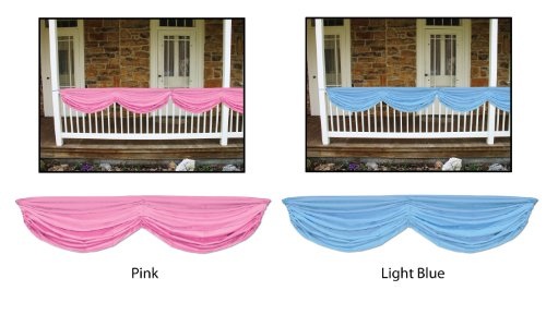 Beistle 50948-LB Baby Shower Fabric Bunting, 5-Feet 10-Inch