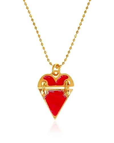MFP-MariaFrancescaPepe CH15/ARG FW13 – Collar de plata bañada en oro de 18 quilates