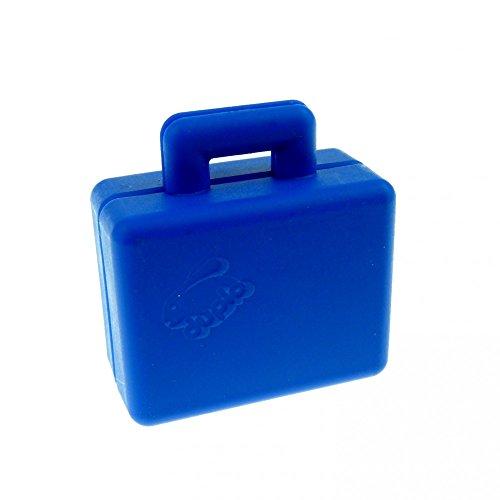 Koffer blau Puppenhaus Möbel Lego Duplo B27
