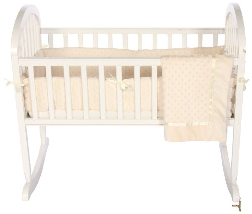 Baby Doll Bedding Heavenly Soft Cradle Set, Ivory