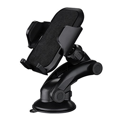 Car Mount, Mpow Grip Pro 2 Dashboard Car Phone Holder / Cars Mount / Universal Cradle Adjustable Windshield Holder Cradle with Strong Sticky Gel Pad for iPhone 6S/6s Plus/6/6 Plus/5S/5C/SE, Galaxy Note 4/3, Galaxy S5 S6/ S6 Edge/S7/S8 Edge and Other Android Smart Phone