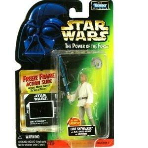 Star Wars - Power of the Force - Freeze Frame Luke Skywalker with Blast Shiel...