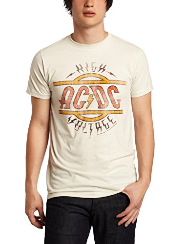 Impact Men's AC DC High Voltage Tee, Vintage White, Medium