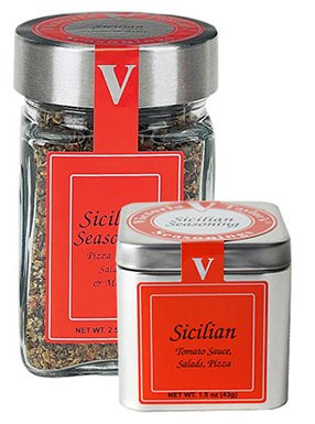 Sicilian Seasoning Blend - 2.5 oz Jar - Victoria Gourmet - Use on pizza, tomato sauce, salads, pasta fagioli - All Natural Ingredients