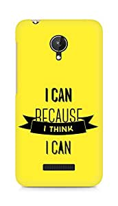 Amez I Can because I Think Back Cover For Micromax Canvas Spark Q380