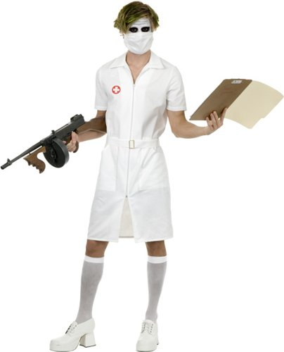 Adult's Joker Nurse Costume (Size: X-Large 46-48)