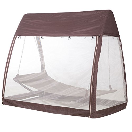 Hanging Swing Hammock W Mosquito Net Arch Canopy Cover