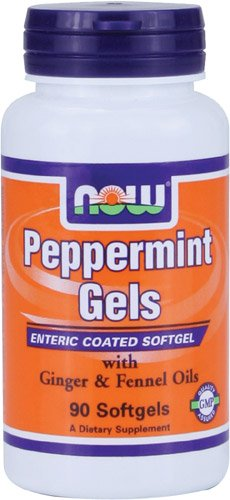 NOW Foods Peppermint Gels with Ginger & Fennel Oils,  90 Softgels