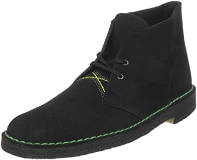 Clarks Men's Desert Boot,Jamaican Black Suede,13 M US