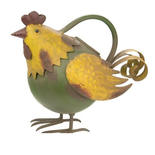 Green Rooster Watering Can