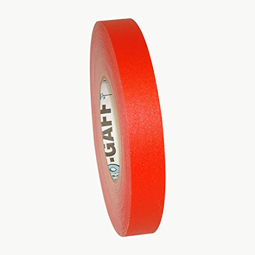 "Pro Tapes Pro-Gaff/RD160 Gaffers Tape, 60 yd Length x 1"" Width, Red"