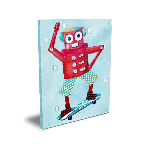 "Cici Art Factory 11""x 14"" Switch Loves Skateboarding, Canvas"