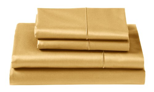 Cuddledown 400 Thread Count Flat Sheets, Queen, Honey front-9286