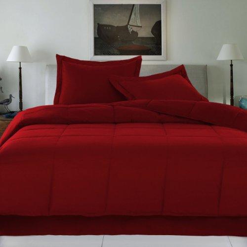 Scarlet Twin 240 Thread Count Cottonloft Colors Cotton Comforter front-581346
