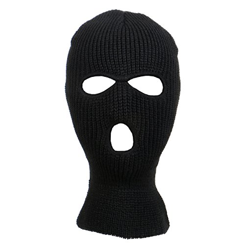 Knitted 3-Hole Ski Mask (Black) (Ski Mask 3 Hole compare prices)