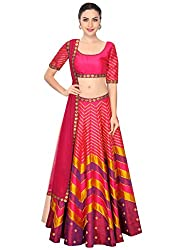 Fabron Pink, magenta and gold sequins embroidered lehenga set