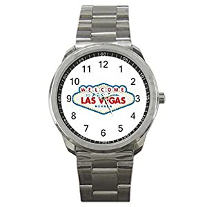 Welcome To Las Vegas 9WLGO937 Men's Wristwatches Stainless Steel