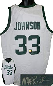 Magic Johnson signed Michigan State Spartans White Custom Jersey by Athlon+Sports+Collectibles