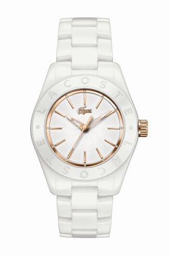 Women's White Ceramic and Rose Gold Biarritz
