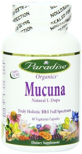Paradise Herbs Mucuna 15% L-Drops Vegetarian Capsules, 60 Count