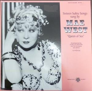 SIXTEEN SULTRY SONGS LP (VINYL ALBUM) US ROSETTA 1987 by MAE WEST