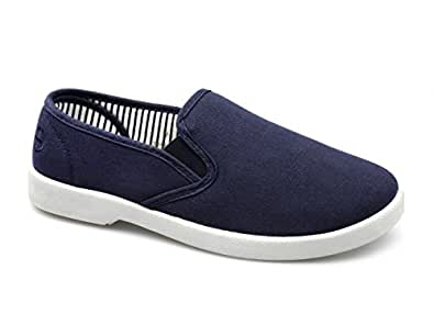 dr keller yacht mens canvas wide fit slip on deck shoes